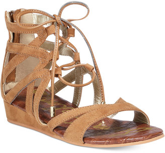 Sam Edelman Danica Lace-Up Sandals, Little Girls (11-3) & Big Girls (3.5-7) $40 thestylecure.com