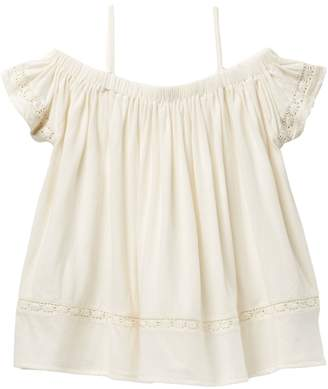 Tucker + Tate Knit Top With Lace (Big Girls)