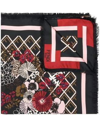Fendi floral print shawl