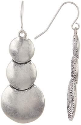 The Sak Triple Layered Circle Drop Earrings