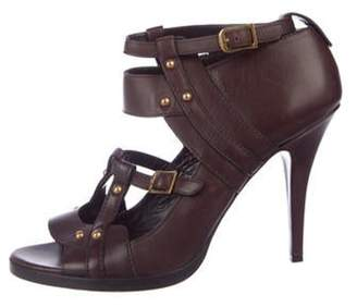 Gucci Leather Cutout Sandals gold Leather Cutout Sandals