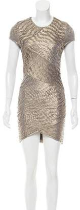 Torn By Ronny Kobo Metallic Bodycon Dress