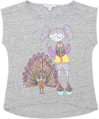 Little Marc Jacobs Peacock Cotton Blend Jersey T-Shirt