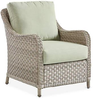 Mayfair Wicker Club Chair - Gray/Green - South Sea Rattan