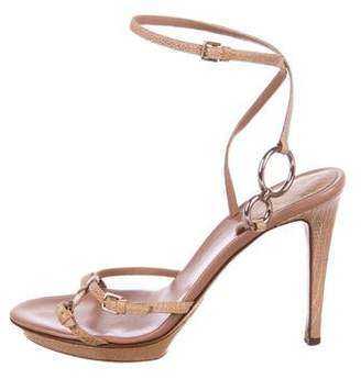 b6da1593b91b Sergio Rossi Wrapped Heel Women s Sandals - ShopStyle