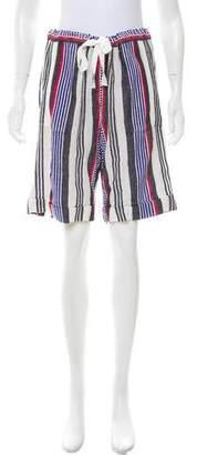 Lemlem Striped Knee-Length Shorts