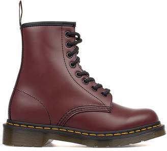 Dr. Martens Bordeaux Smoot Brushed Leather Low Boot