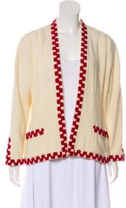 Chanel Open Front Cardigan red Open Front Cardigan