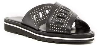 Charles David Sneaky Leather Slide Sandal