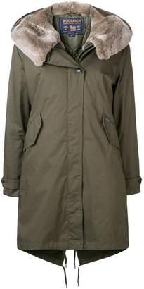 Woolrich rabbit fur hooded coat