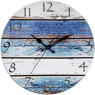 "Bernhard Products Rustic Beach Wall Clock 12"" Round"