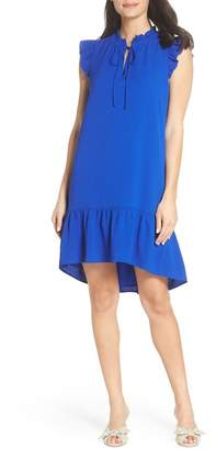 Charles Henry Ruffle Shift Dress (Regular & Petite)
