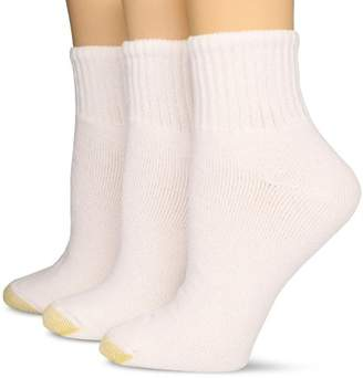 Gold Toe Women's Plus-Size 3 Pair Pack Hydro Teck Quarter Socks