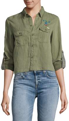 Mother Women's Super Trooper Crop Button-Down Shirt