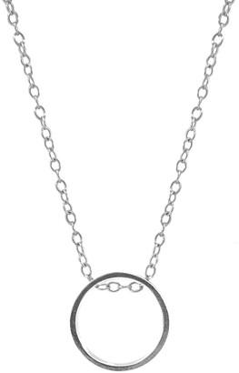 Anchor & Crew Abbott Round Mini Geometric Silver Necklace Pendant