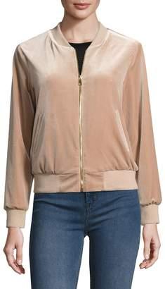 ABS by Allen Schwartz Women's Velvet Bomber Jacket