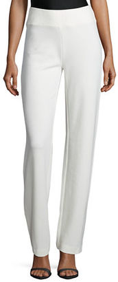 Joan Vass Ponte Boot-Leg Pants $188 thestylecure.com