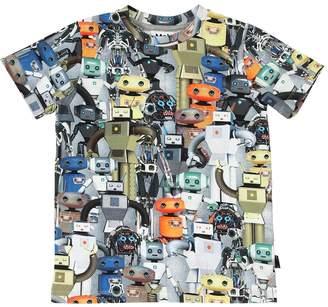 Molo Robot Printed Cotton Jersey T-Shirt