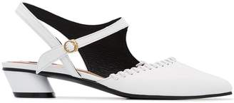 Reike Nen White 30 Mary-Jane Pumps
