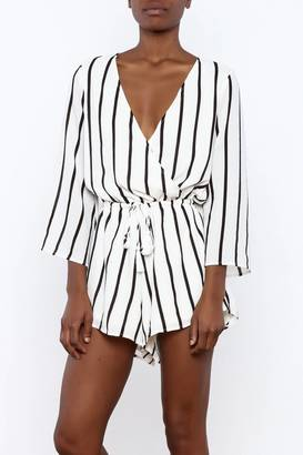 reverse Bell Sleeve Romper $69.99 thestylecure.com
