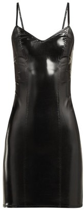 Lisa Marie Fernandez Tank Pvc Mini Dress - Womens - Black