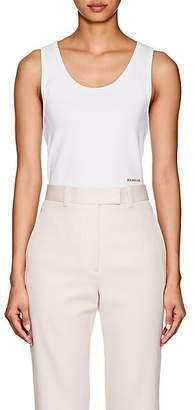 Calvin Klein Women's Logo Rib-Knit Cotton Tank - White