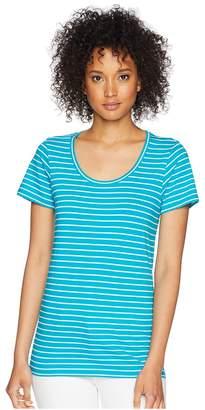 Pendleton Short Sleeve Pima Stripe Tee Women's Clothing