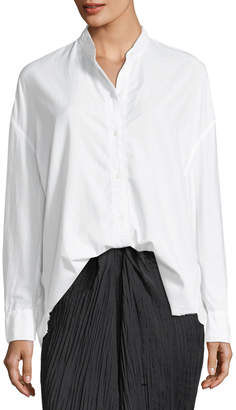 Vince Raw-Edge Button-Front Oversized Shirt