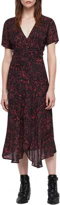 AllSaints Seeta Rosey Midi Dress