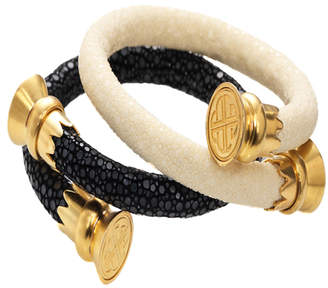 Budhagirl Stingray Wrist Wrap Bracelet with Interchangeable End Caps