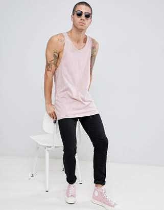 New Look drop arm tank in pink