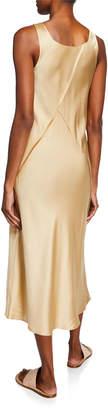 Vince Raw Edge Midi Slip Tank Dress