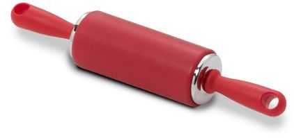 Sur La Table Small Silicone Rolling Pin, Red