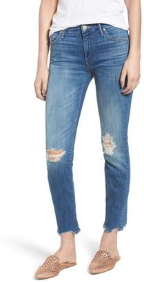 Mother The Looker Chew Hem Ankle Skinny Jeans