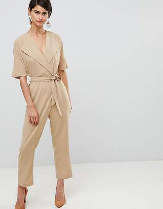 Asos (エイソス) - ASOS DESIGN Wrap Jumpsuit With Self Belt