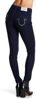 True Religion Rhinestone Embellished Curvy Skinny Jeans