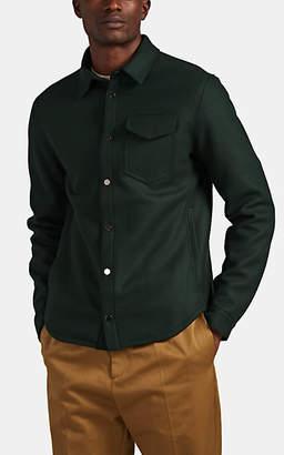 Barneys New York Men's Wool-Blend Felt Shirt Jacket - Green