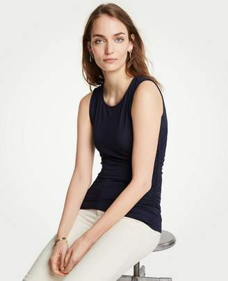 Ann Taylor Petite Side Ruched Knit Tank