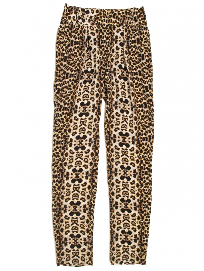 A.L.C. Elson Leopard Silk-Crepe Tapered Pants