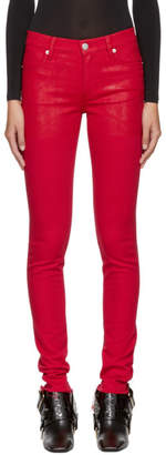 1017 Alyx 9SM Red Zip Back Jeans