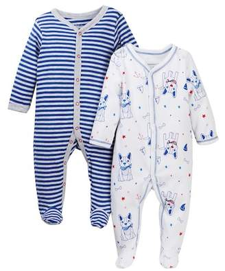 Vitamins Baby Nautical Frenchie Footie - Pack of 2 (Baby Boys)