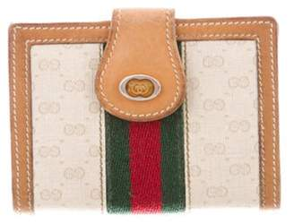Gucci Vintage Micro GG Web Cardholder Beige Vintage Micro GG Web Cardholder