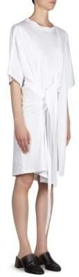 Acne Studios Tie Back Cotton T-Shirt Dress