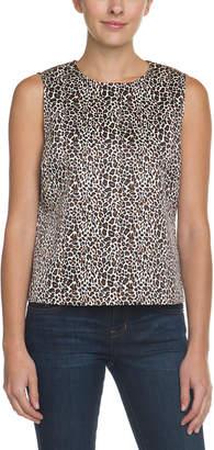 C. Wonder Classic Cheetah Natural Sleeveless Top