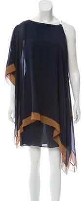 Akris Asymmetrical Silk Dress