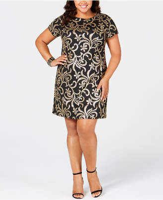 Kensie Plus Size Sequin Sheath Dress