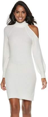 JLO by Jennifer Lopez Women's Cold-Shoulder Sweaterdress