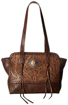 American West Annie's Secret Zip Top Tote w/ Secret Compartment Tote Handbags