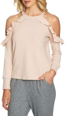 1 STATE 1.STATE The Cozy Cold Shoulder Knit Top