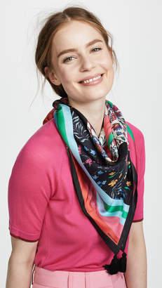 Rebecca Minkoff Eccentric Stripe Square Scarf